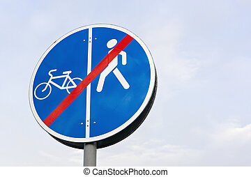 Prohibitory sign for pedestrians - Prohibitory road sign for...