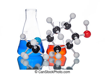 Molecular Structure and colorful liquid