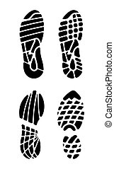 Vector illustration of the footprints