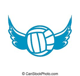 Vector illutration of the volleball ball