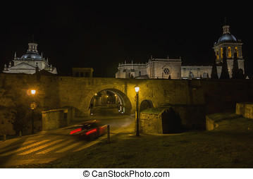 Ciudad Rodrigo at night - Night view of Ciudad Rodrigo...