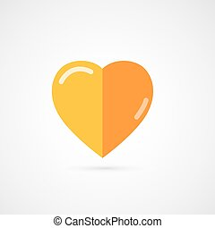 Vector gold  rating heart.