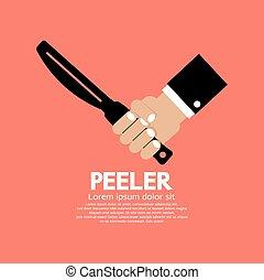 Peeler Kitchen Utensil. - Peeler Kitchen Utensil Vector...