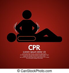 CPR. - CPR Or Cardiopulmonary Resuscitation Vector...