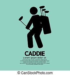 Caddie Graphic Sign. - Caddie Graphic Sign Vector...