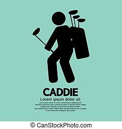 Caddie Graphic Sign. - Caddie Graphic Sign Vector...