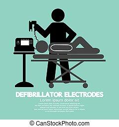 Defibrillator Electrodes Symbol. - Defibrillator Electrodes...