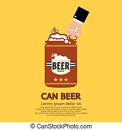 Canned Beer - Canned Beer Graphic Vector Illustration