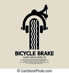 Bicycle Brake - Bicycle Brake Graphic Vector Illustration