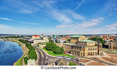 Semperoper is the opera house of the Sachsische Staatsoper...