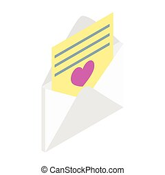 Love letter isometric 3d icon
