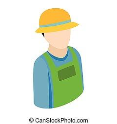 Farmer isometric 3d icon - FarmerFarmer isometric 3d icon...