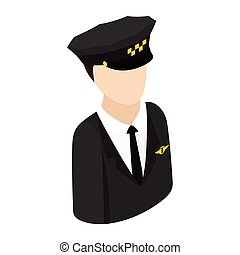 Taxi driver isometric 3d icon - Taxi driver in a hat...