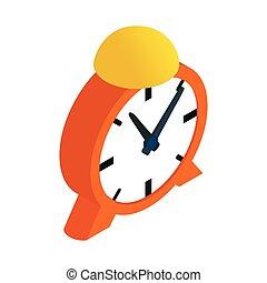 Alarm clock isometric 3d icon