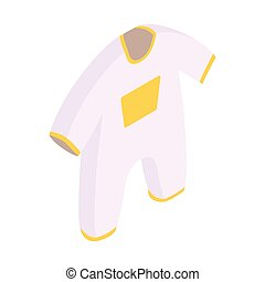 New born clothes isometric 3d icon - New born baby clothes...