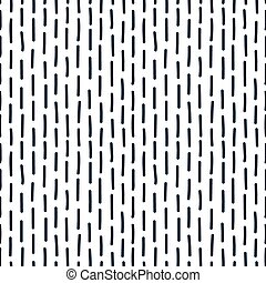 Hand drawn seamless indigo irregular dotted line texture,...