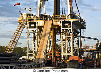 Oil rig - Lower structure and Blow Out Preventer of a land...