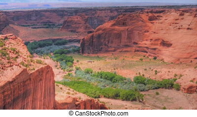 Canyon De Chelly - Panorama of Canyon de Chelly