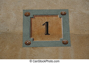 Number 1 - House number in Versailles