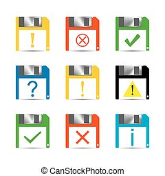 Information Set of icons, vector - Set of icons and signs,...