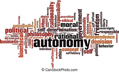 Autonomy word cloud concept. Vector illustration