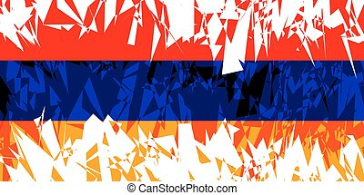 Flag of Armenia - Flag of Armenia in grunge style Vector...