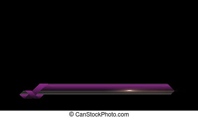 Animated lower third banner bar screen broadcast name plate