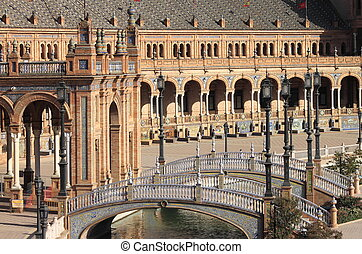 Plaza de Espana in Sevilla - Plaza de Espana (square of...
