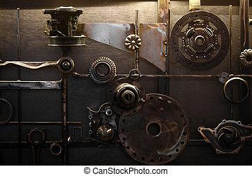 Car parts - Close-up shot of an arrangement of various car...