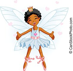 Little Blue Fairy - Cute blue fairy ballerina flying