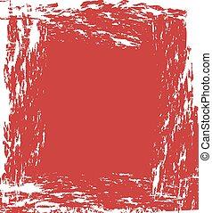 respingo,  grunge, vermelho, fundo, tinta