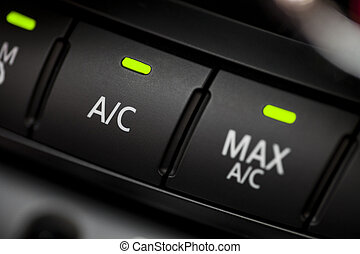 Car air conditioning - Color detail with the air...