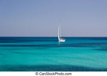 Sailing. Boat