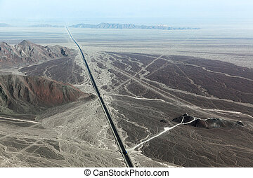 Highway and the Nazca Plateau - Pan-American Highway and the...