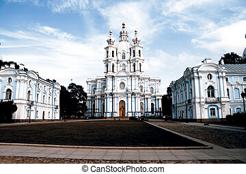 Smolny Convent cathedral, StPetersburg, Russia