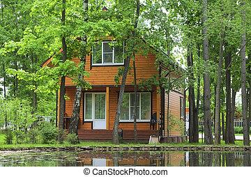 log houses - The image of log houses