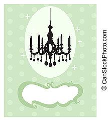 Chandelier card illustration