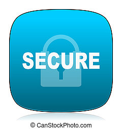 secure blue icon