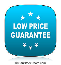low price guarantee blue icon