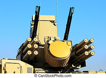 Weapons of anti-aircraft defense system quot;Pantsir-S1quot;...