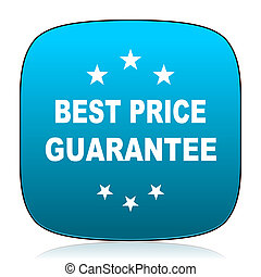 best price guarantee blue icon