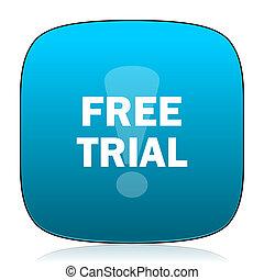 free trial blue icon