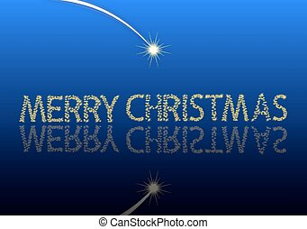 The inscription Merry Christmas sta
