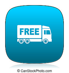 free delivery blue icon