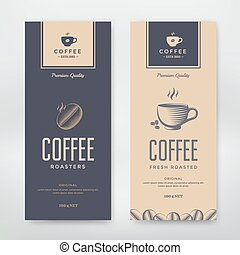 Coffee Packaging Design. Vector template package for your...