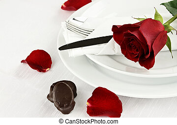 Rose and Chocolate Candy - Beautiful long stem red rose...