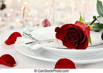 Romantic Candlelite Table Setting - Romantic candlelite...