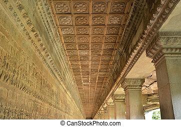 Ceiling detail of Angkor Wat