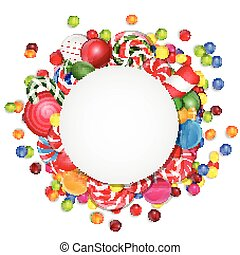 Sweets background - Illustration of Sweets background with...