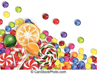 Sweets of candies - Illustration of Sweets of candies with a...